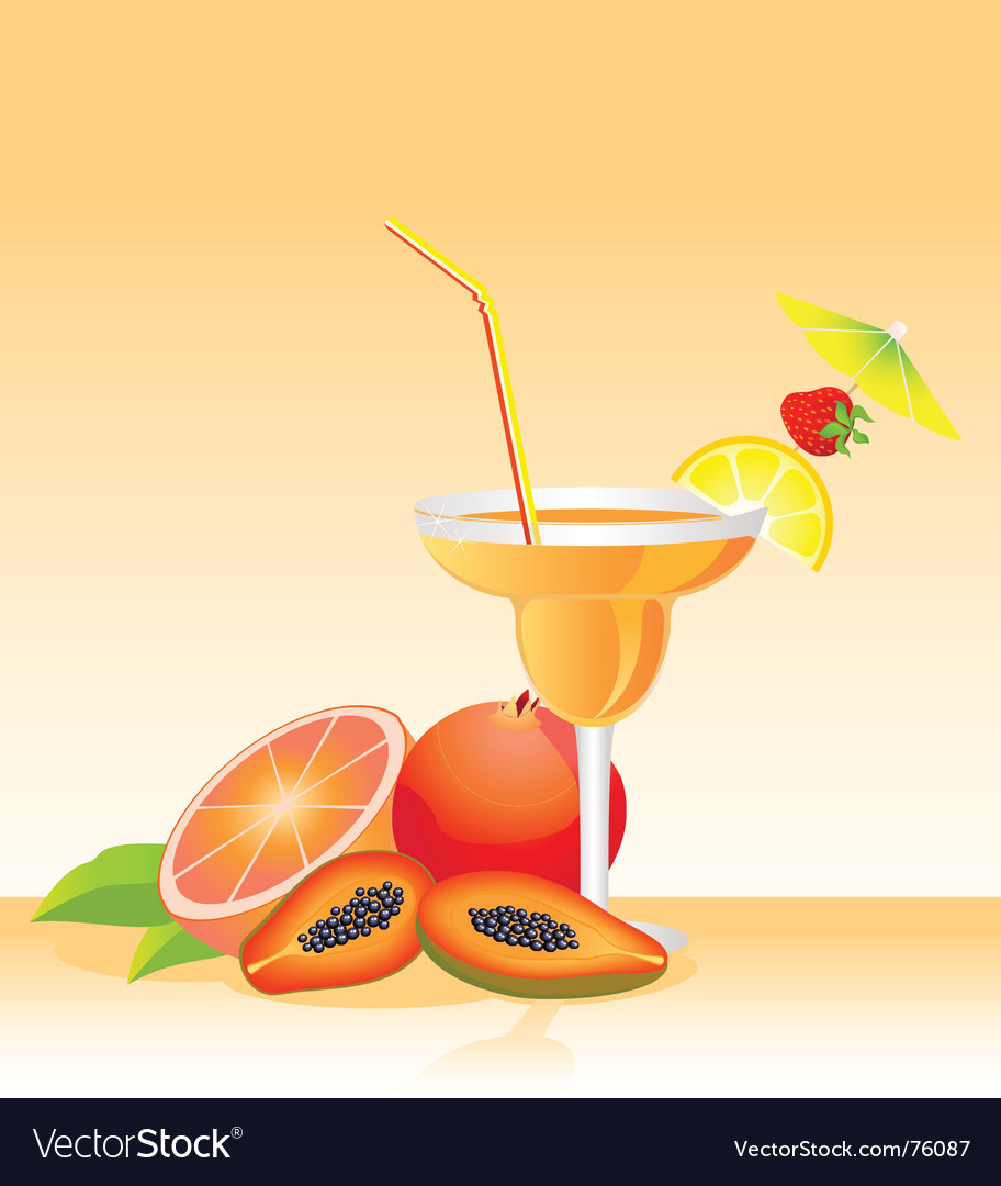 Tropical liqueur vector | Price: 1 Credit (USD $1)