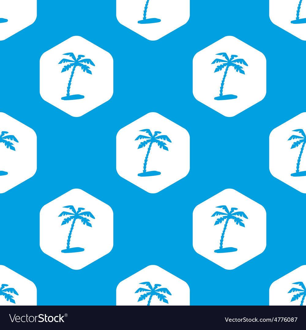 Vacation hexagon pattern vector | Price: 1 Credit (USD $1)