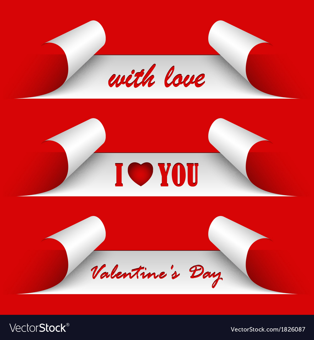 Valentines day red stickers vector | Price: 1 Credit (USD $1)