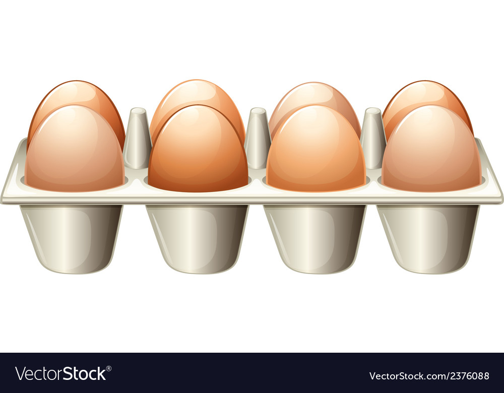 A tray with eggs vector | Price: 1 Credit (USD $1)
