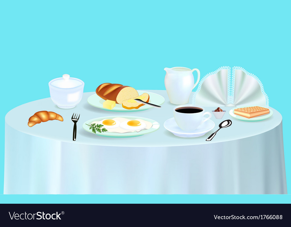 Breakfast with scrambled eggs vector | Price: 1 Credit (USD $1)