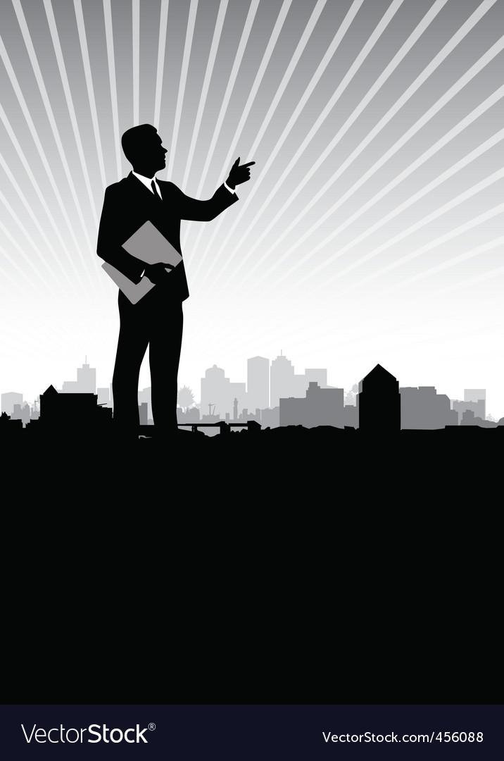 Businessman cityscape vector | Price: 1 Credit (USD $1)