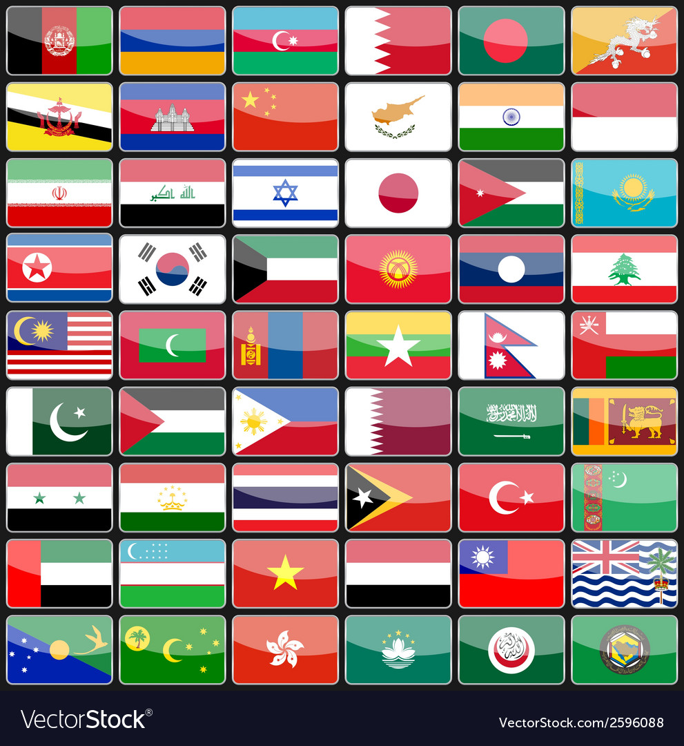Elements of design icons flags of the countries of vector | Price: 1 Credit (USD $1)