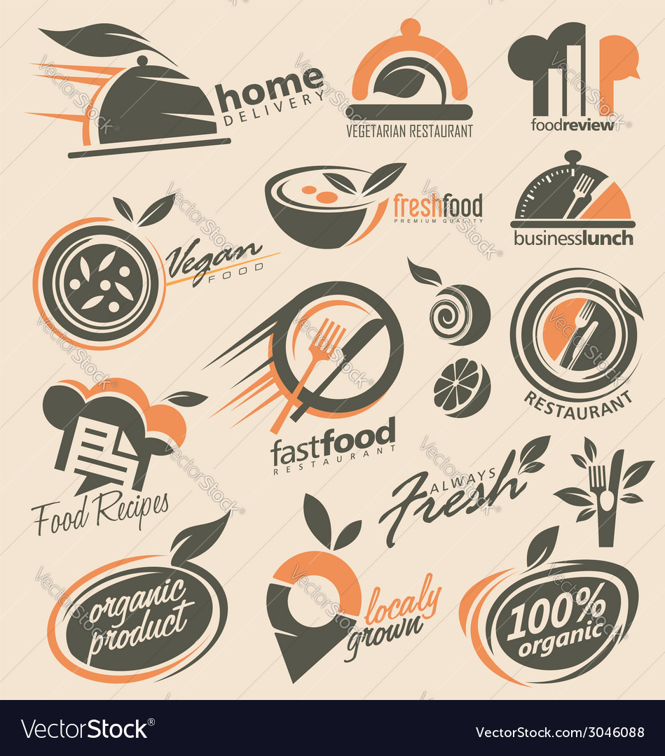 Food and restaurant logo designs vector | Price: 1 Credit (USD $1)