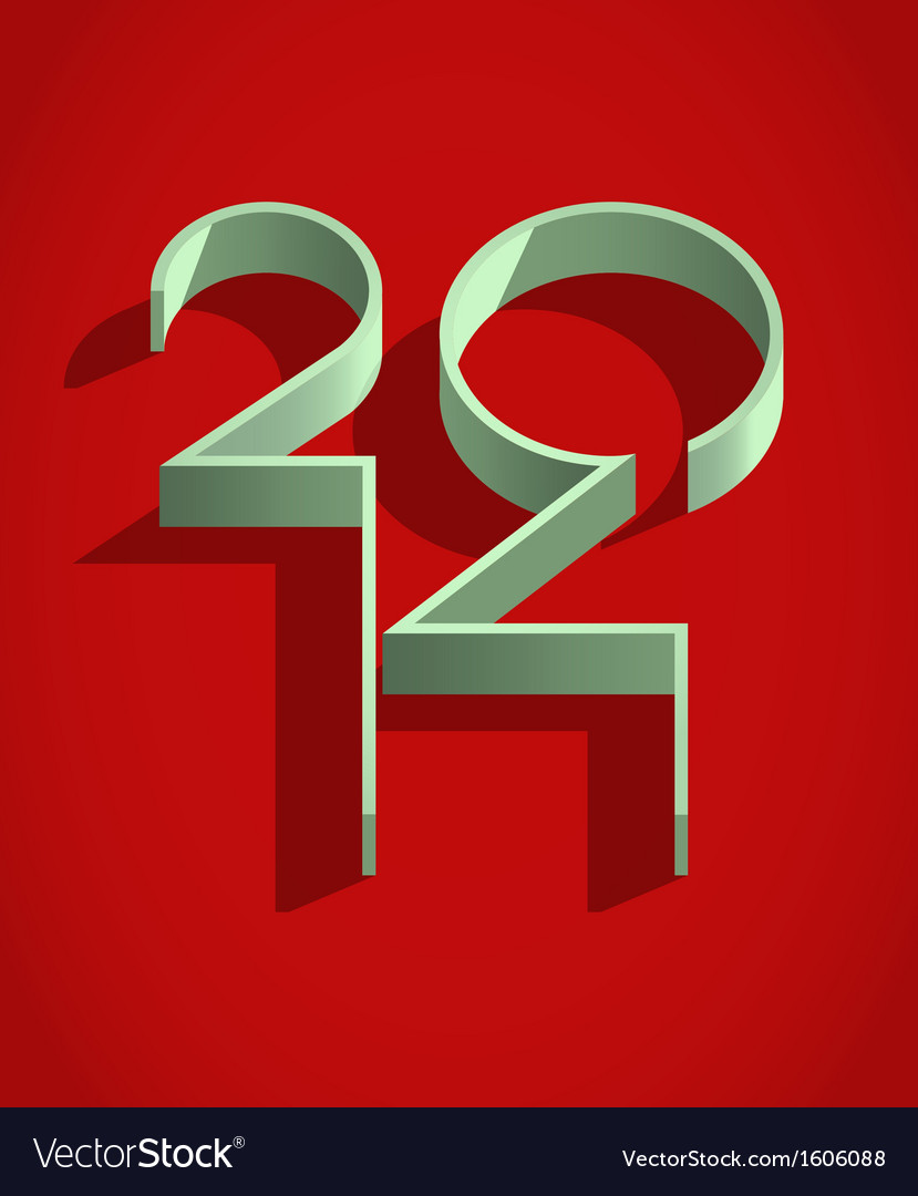 Happy 2014 year vector | Price: 1 Credit (USD $1)