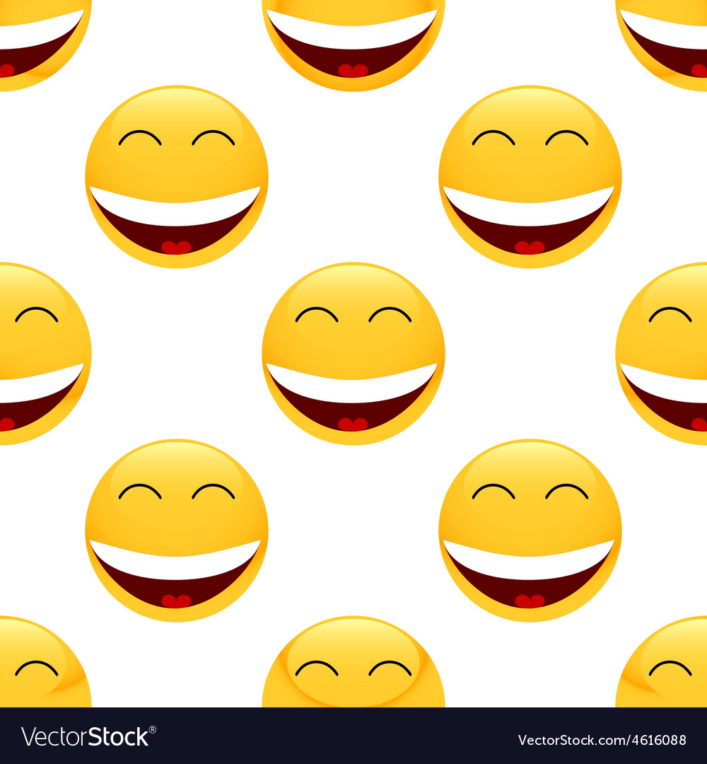 Laughing emoticon pattern vector | Price: 1 Credit (USD $1)