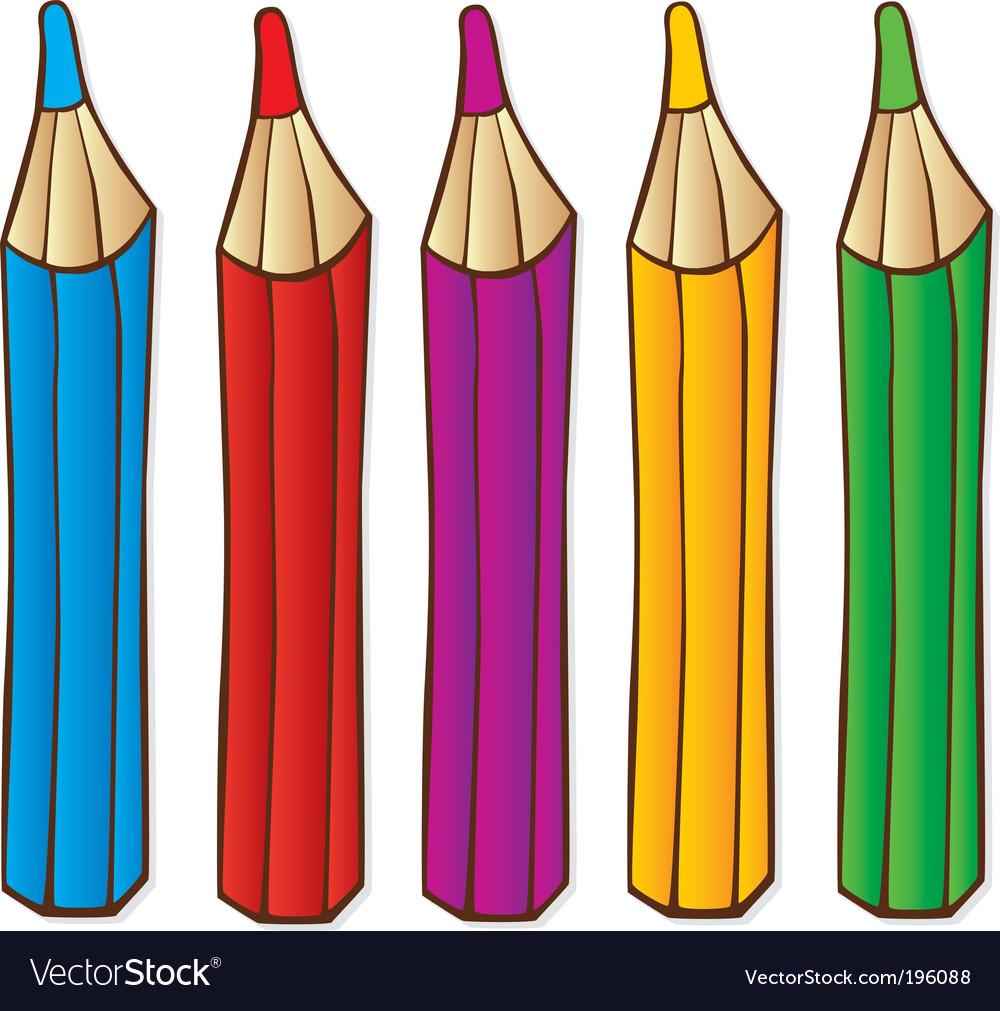 Pencils crayons vector | Price: 1 Credit (USD $1)