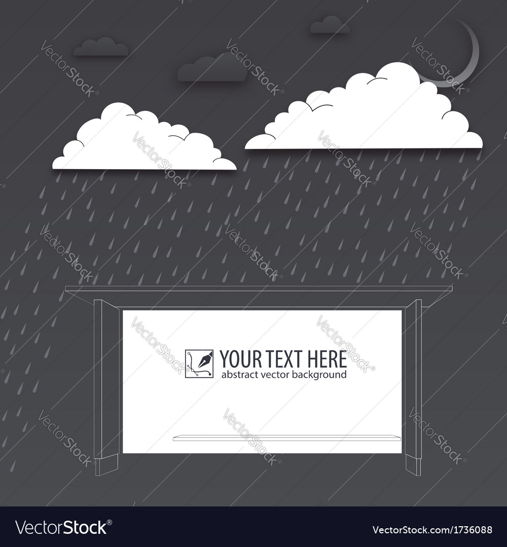 Protection of trouble rainy day background vector | Price: 1 Credit (USD $1)