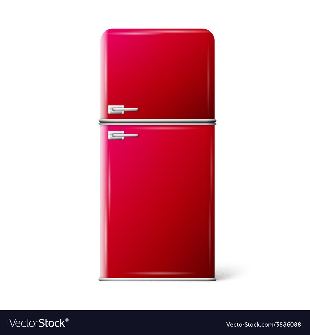 Red retro refrigerator vector | Price: 1 Credit (USD $1)