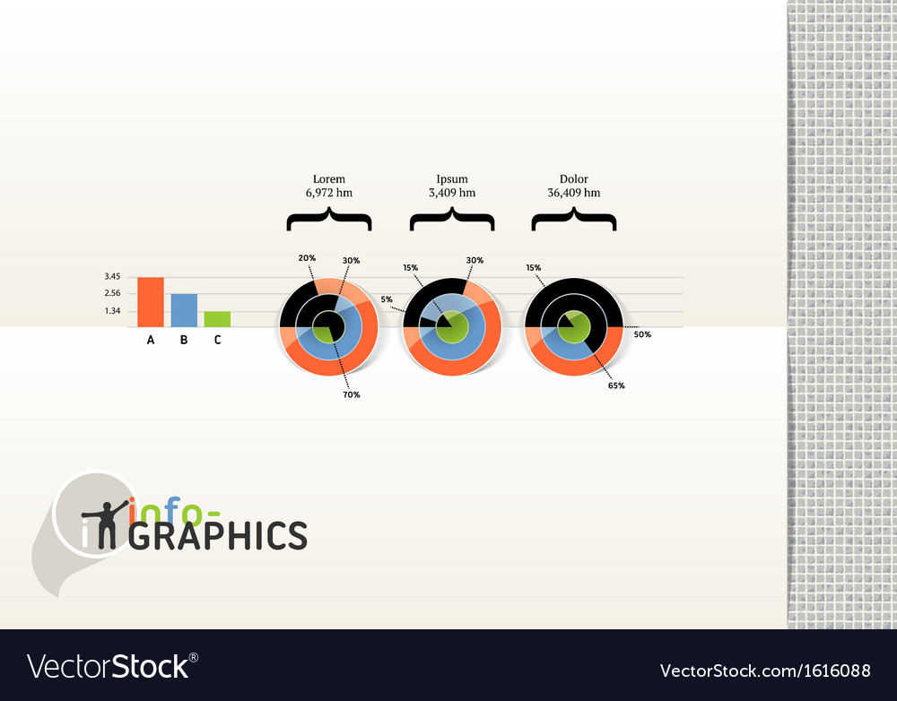 Set of infographic elements visual statistic vector | Price: 1 Credit (USD $1)