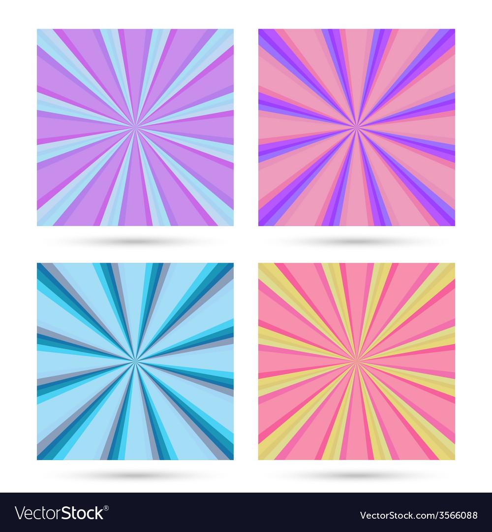 Set of sunburst backgrounds vector | Price: 1 Credit (USD $1)
