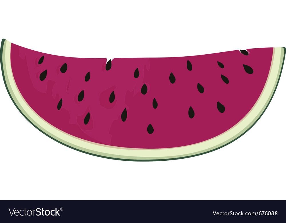 Slice of nice fresh watermelon vector | Price: 1 Credit (USD $1)