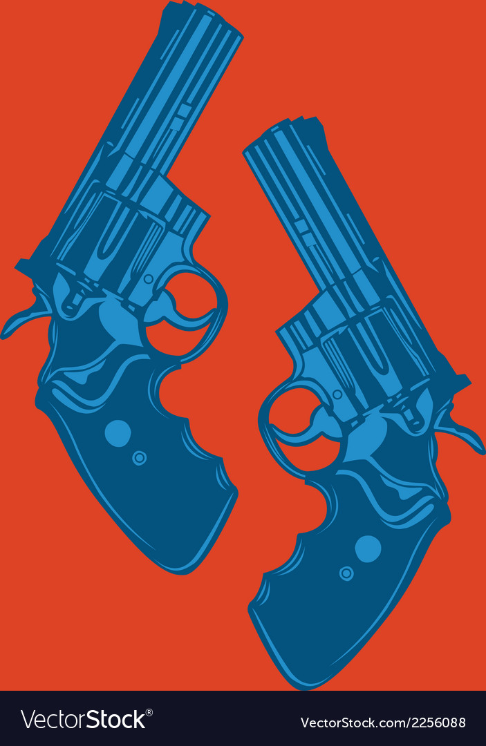 Two pistols vector | Price: 1 Credit (USD $1)