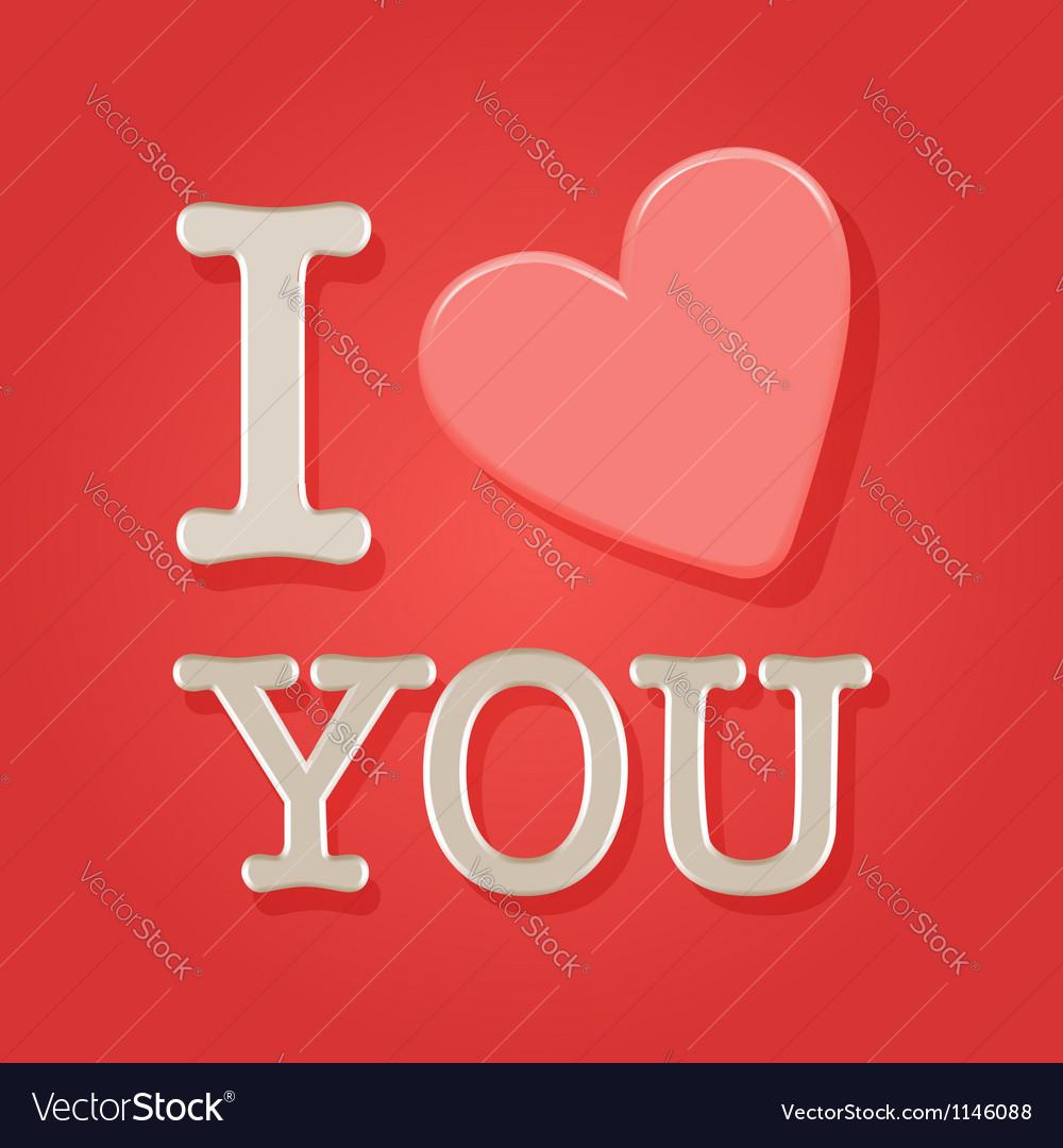 Valentine day postcard vector | Price:  Credit (USD $)