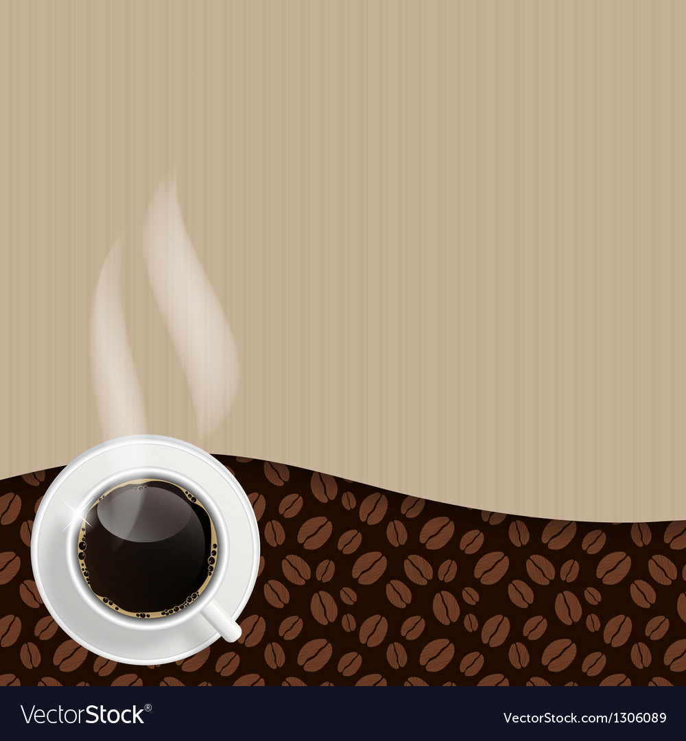 Abstract coffee background vector | Price: 1 Credit (USD $1)
