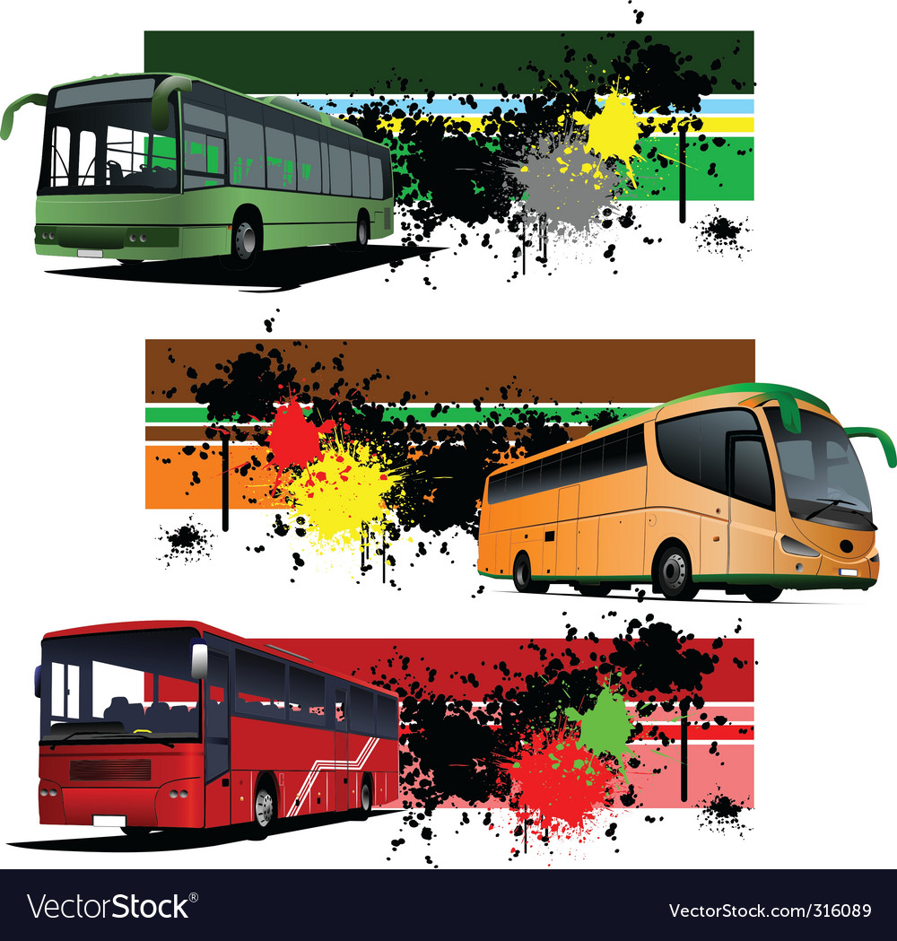 Bus banners vector | Price: 1 Credit (USD $1)