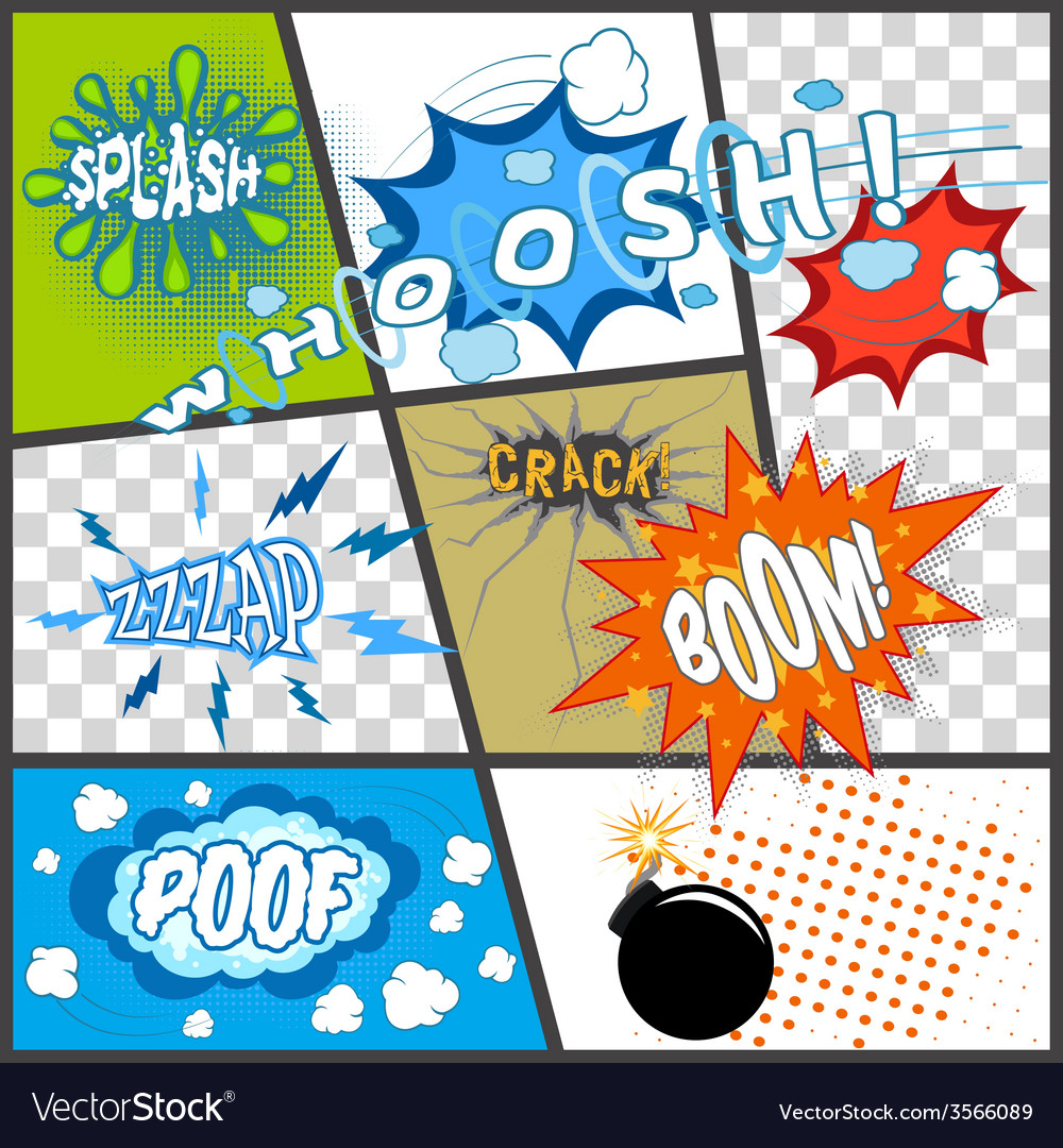 Comic book page vector | Price: 1 Credit (USD $1)