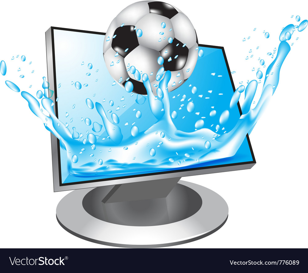 Football in water vector | Price: 3 Credit (USD $3)