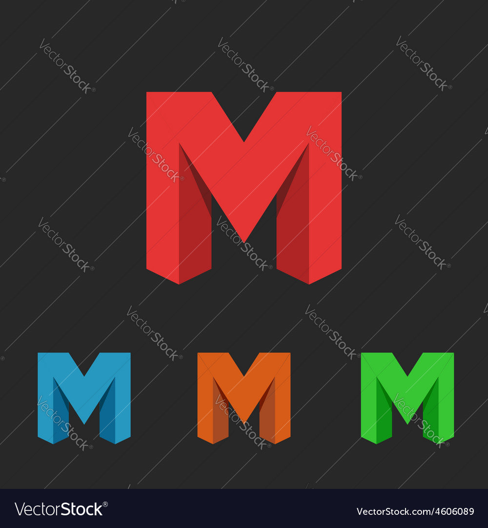 Logo letter m a set of neon icons symbol site vector | Price: 1 Credit (USD $1)