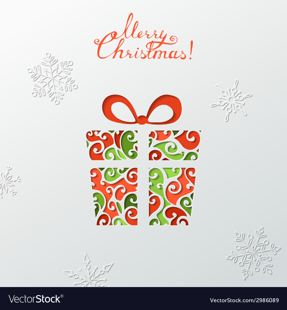 Paper christmas background vector | Price: 1 Credit (USD $1)