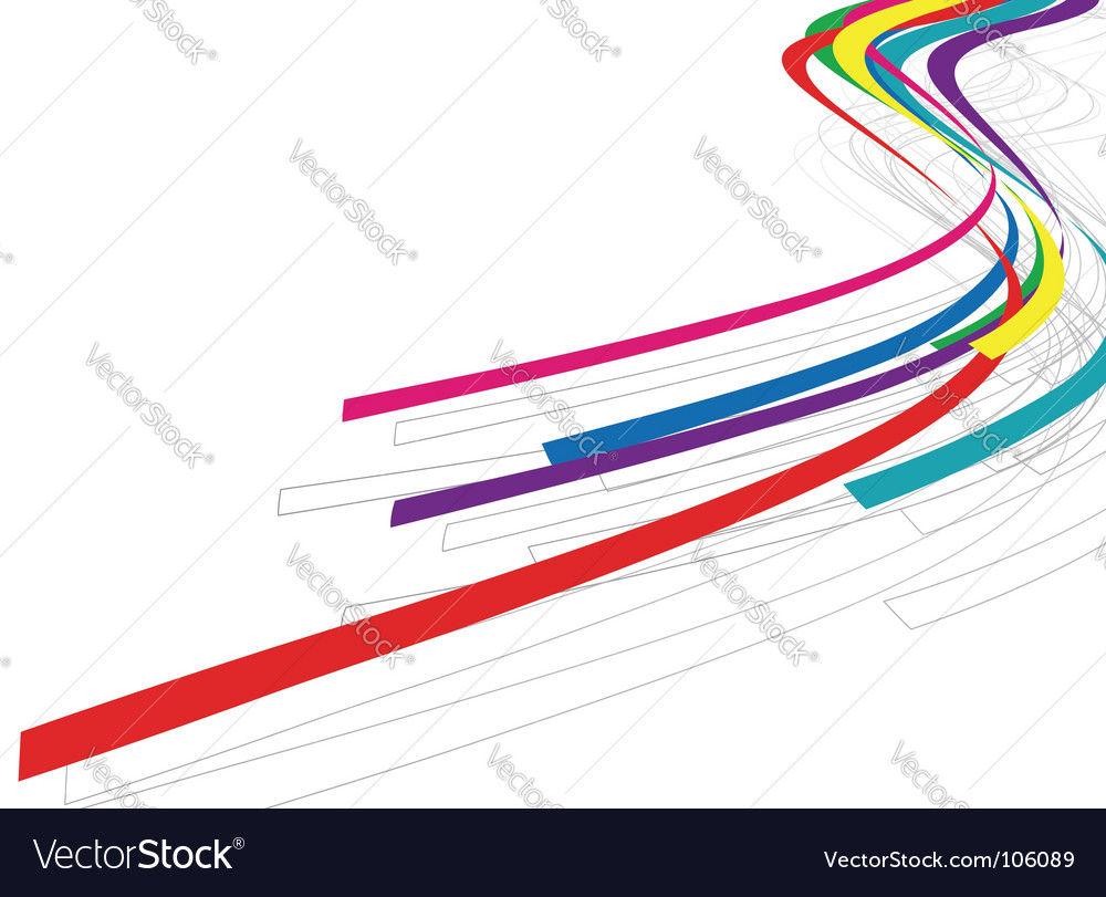 Rainbow wave line vector | Price: 1 Credit (USD $1)