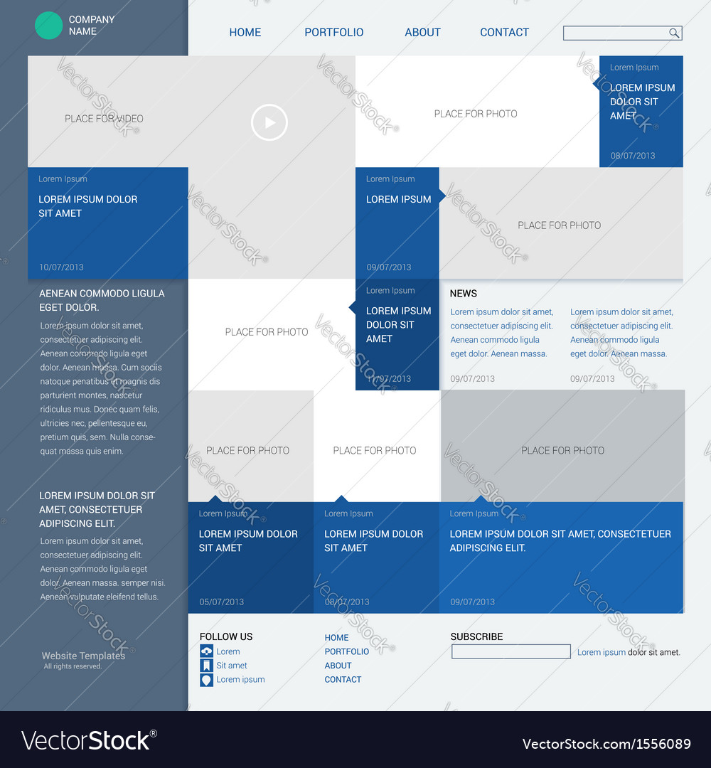 Template website built on the 16 column grid metro vector | Price: 1 Credit (USD $1)