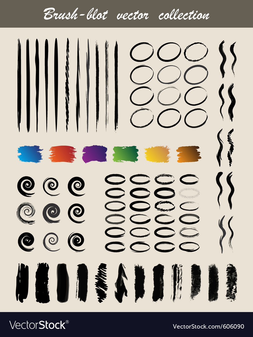 Brush blot vector | Price: 1 Credit (USD $1)