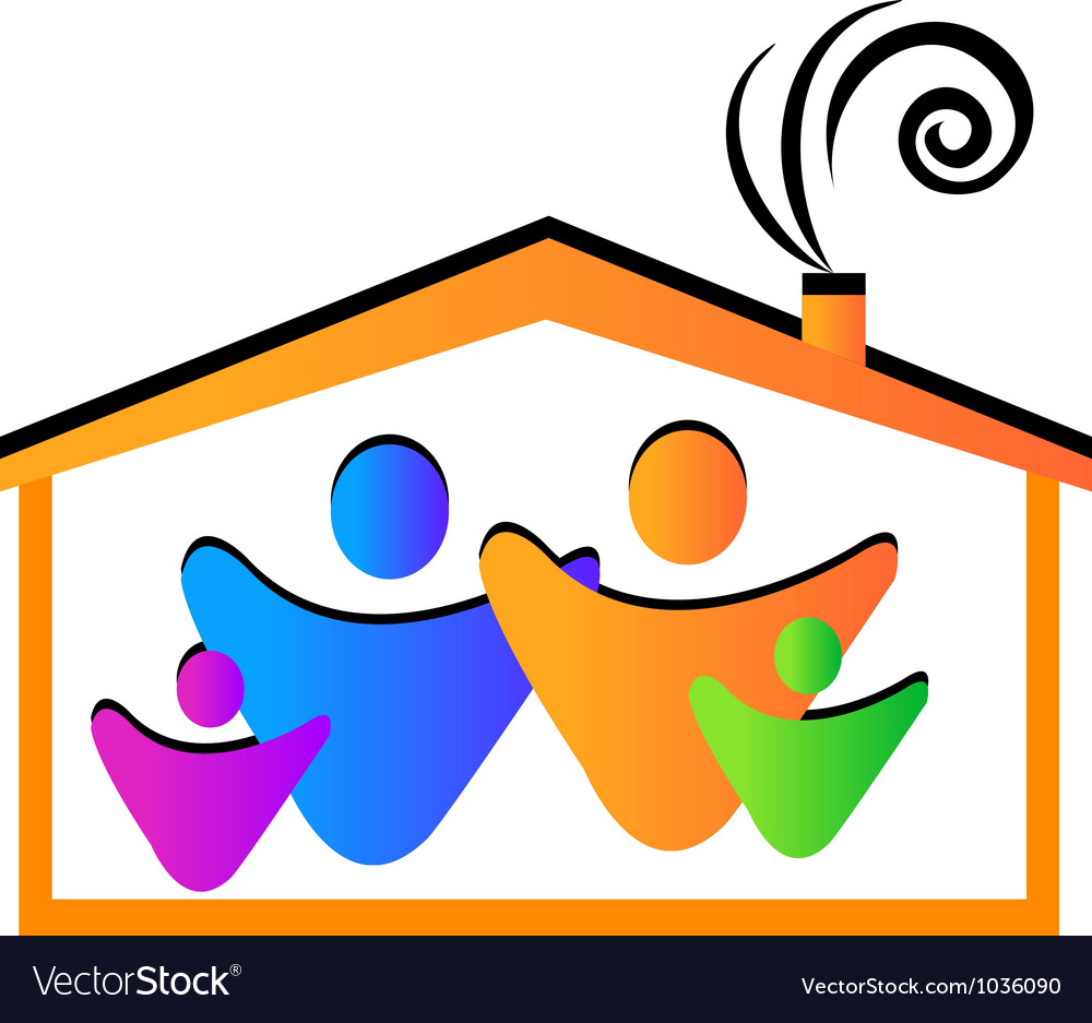 Family and house vector   Price: 1 Credit (USD $1)