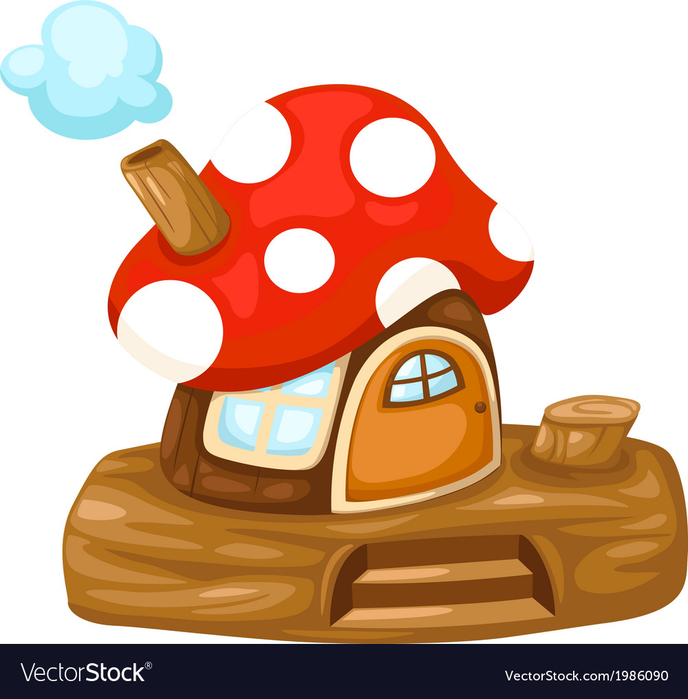 Fantasy mushroom house vector | Price: 1 Credit (USD $1)