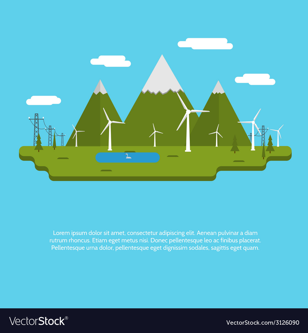 Flat design for ecology vector | Price: 1 Credit (USD $1)