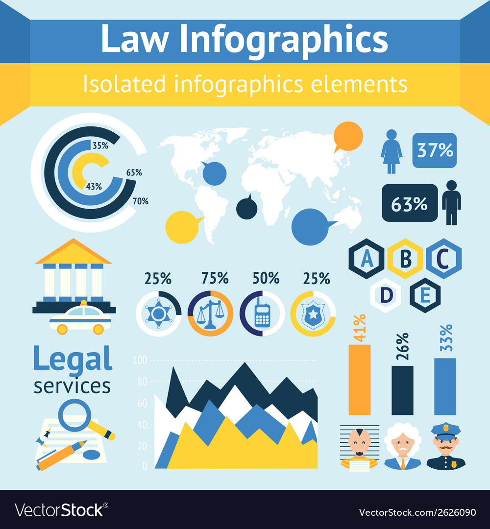 Law and justice infographics vector | Price: 1 Credit (USD $1)