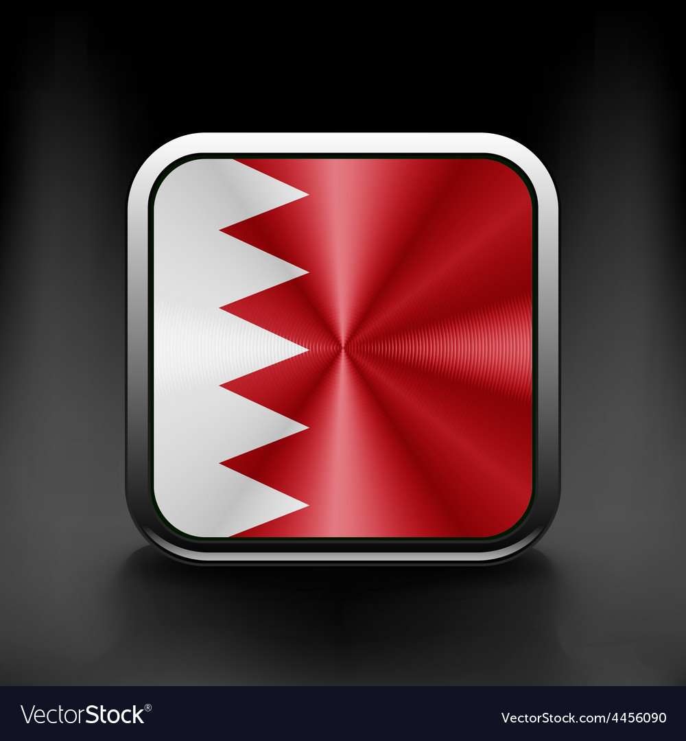 Original and simple bahrain flag isolated in vector | Price: 1 Credit (USD $1)