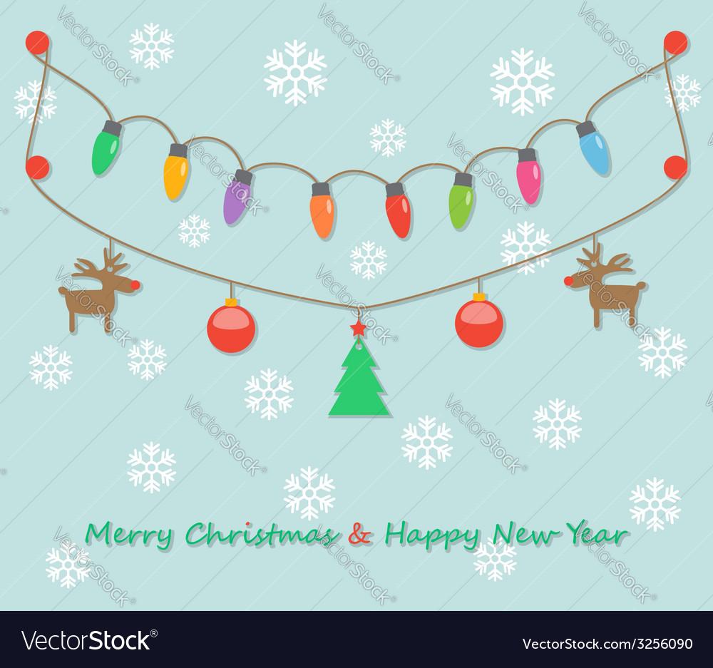 Party christmas light bulbs vector   Price: 1 Credit (USD $1)