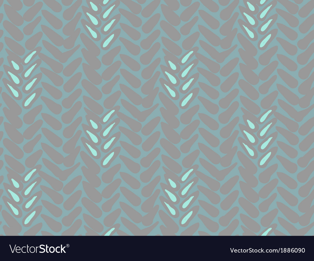 Pattern with stylized wheat and rye plant motifs vector | Price: 1 Credit (USD $1)