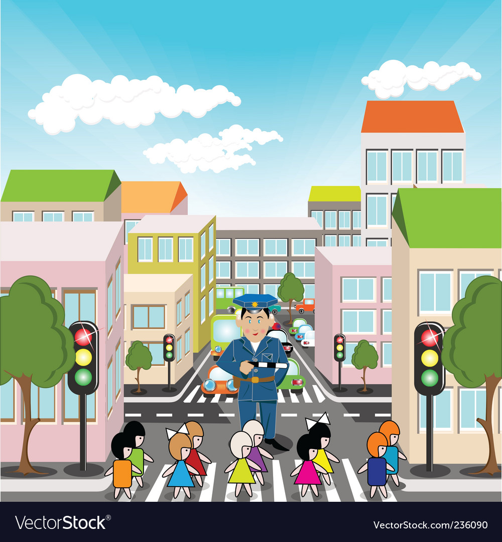 Pedestrian crossing vector | Price: 3 Credit (USD $3)