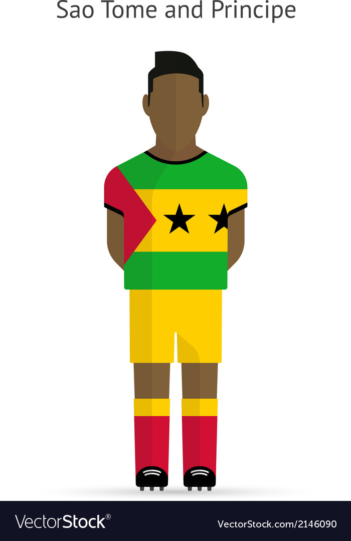 Sao tome and principe football player soccer vector | Price: 1 Credit (USD $1)