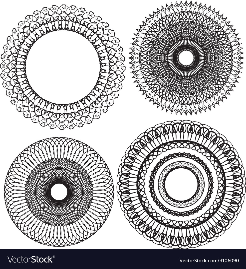 Set circle 1color 5 380 vector | Price: 1 Credit (USD $1)