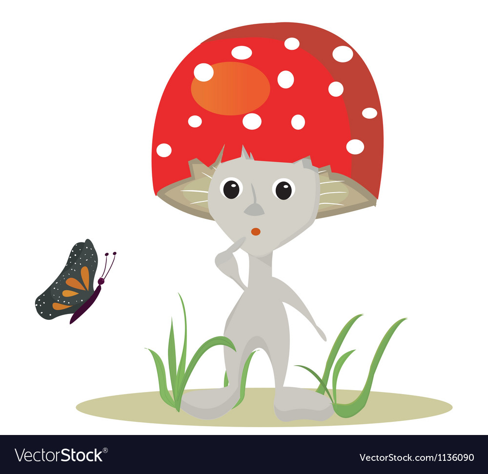 Surprise toadstool vector | Price: 1 Credit (USD $1)