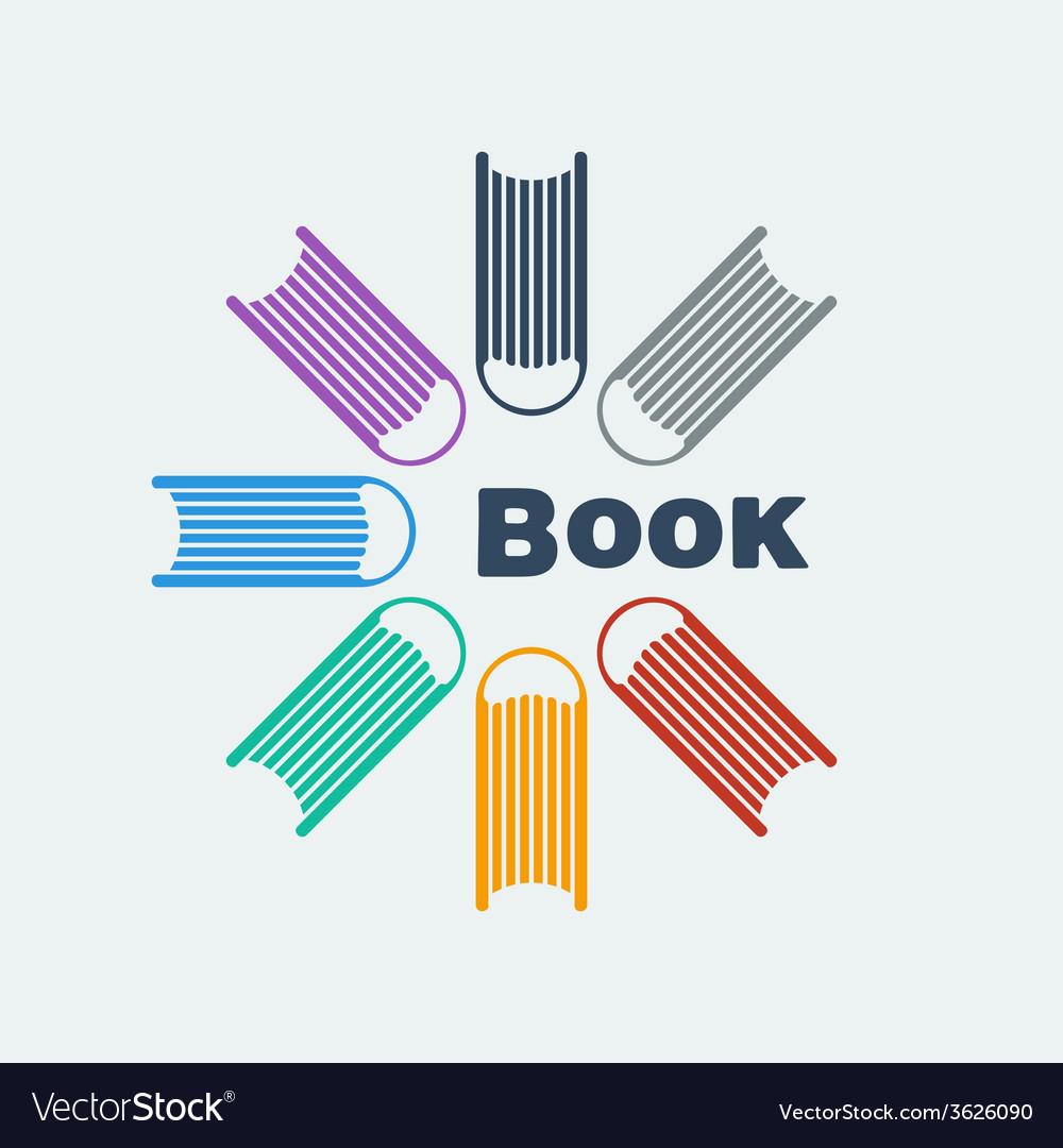 Symbol set of books vector | Price: 1 Credit (USD $1)