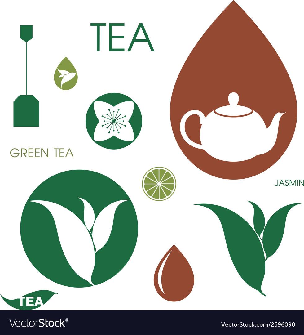 Tea set vector | Price: 1 Credit (USD $1)