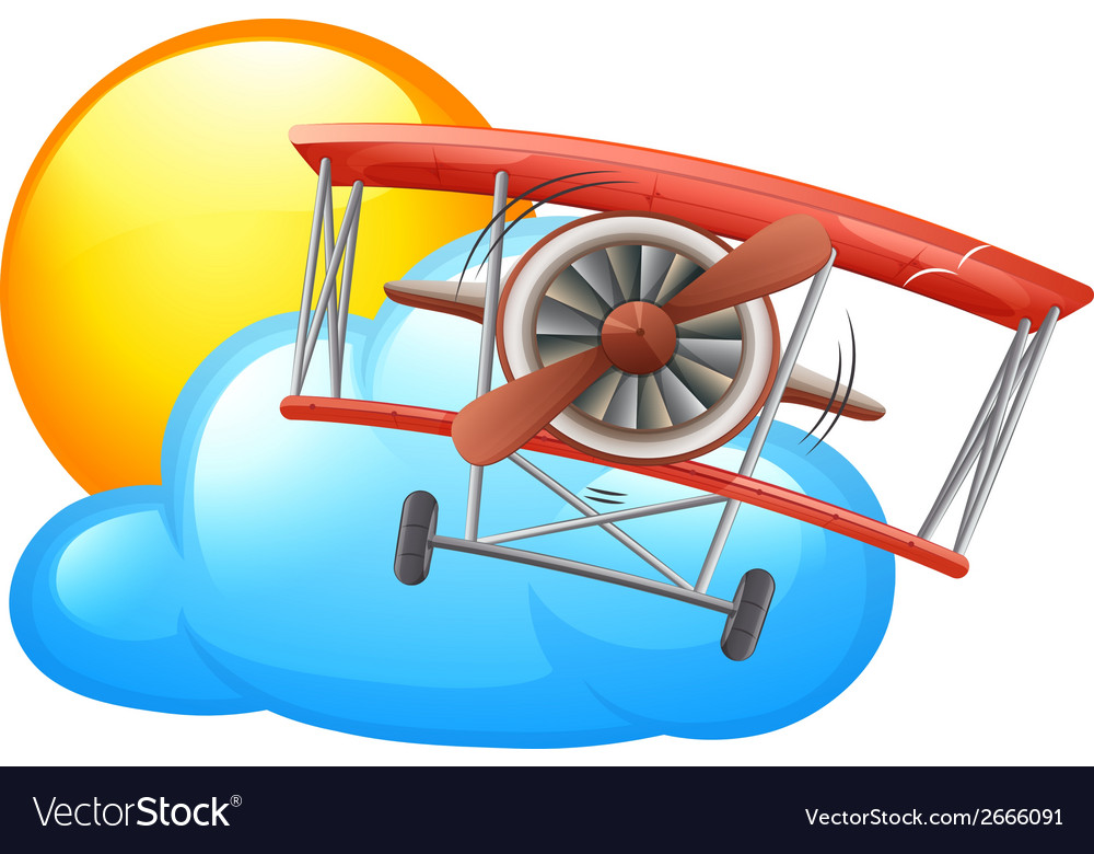A vintage plane flying vector | Price: 1 Credit (USD $1)
