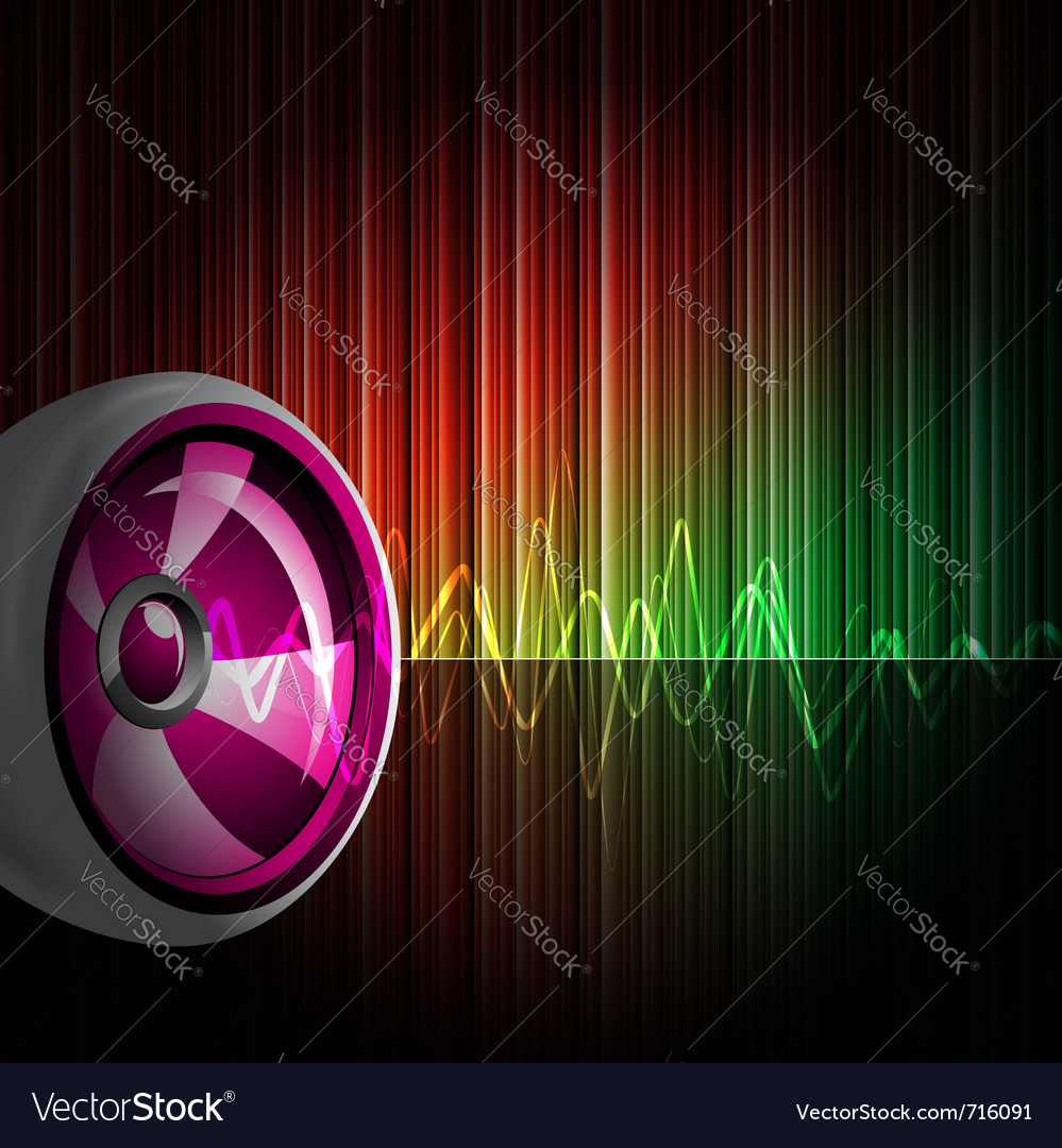 Background with speakers vector | Price: 1 Credit (USD $1)