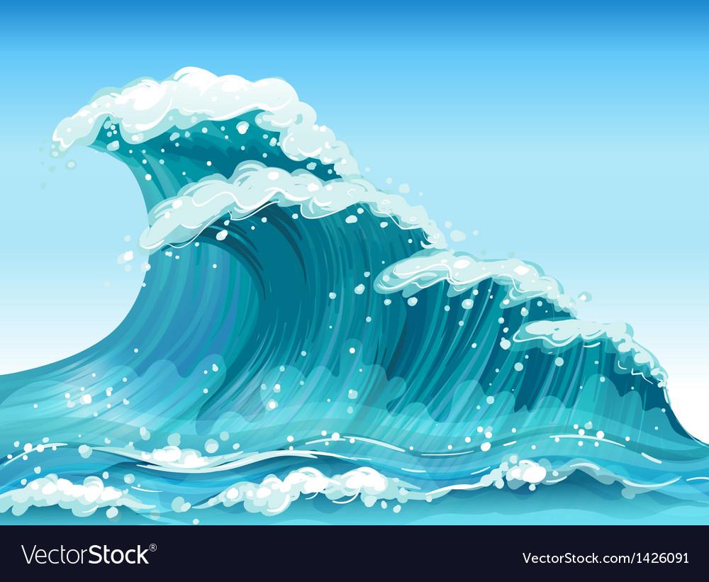 Big waves vector | Price: 1 Credit (USD $1)