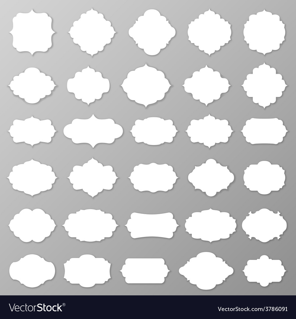 Blank frames and labels vector | Price: 1 Credit (USD $1)