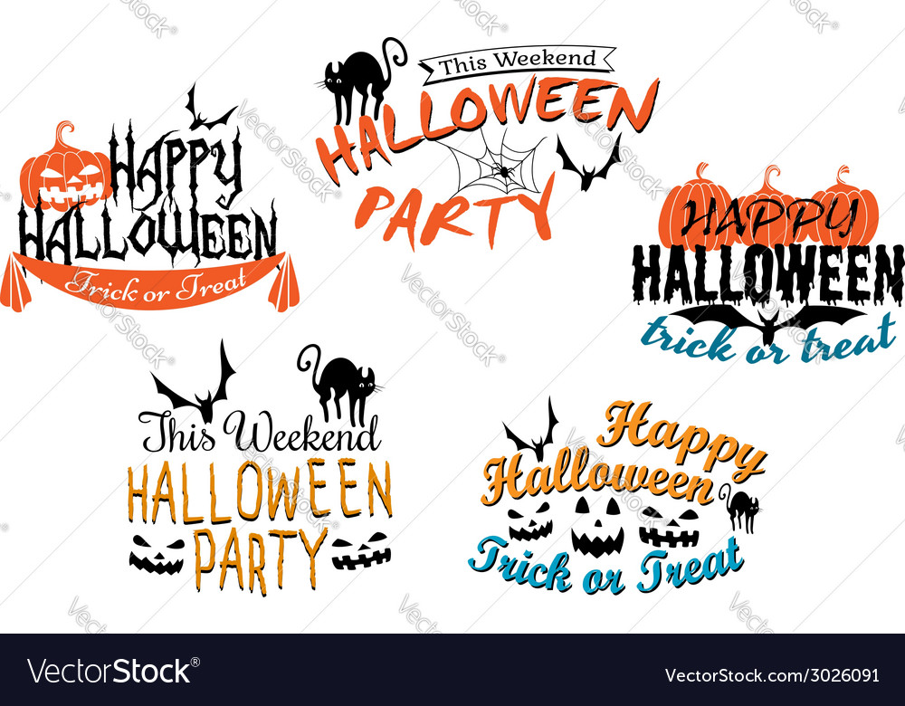 Halloween holiday party posters and banners vector | Price: 1 Credit (USD $1)
