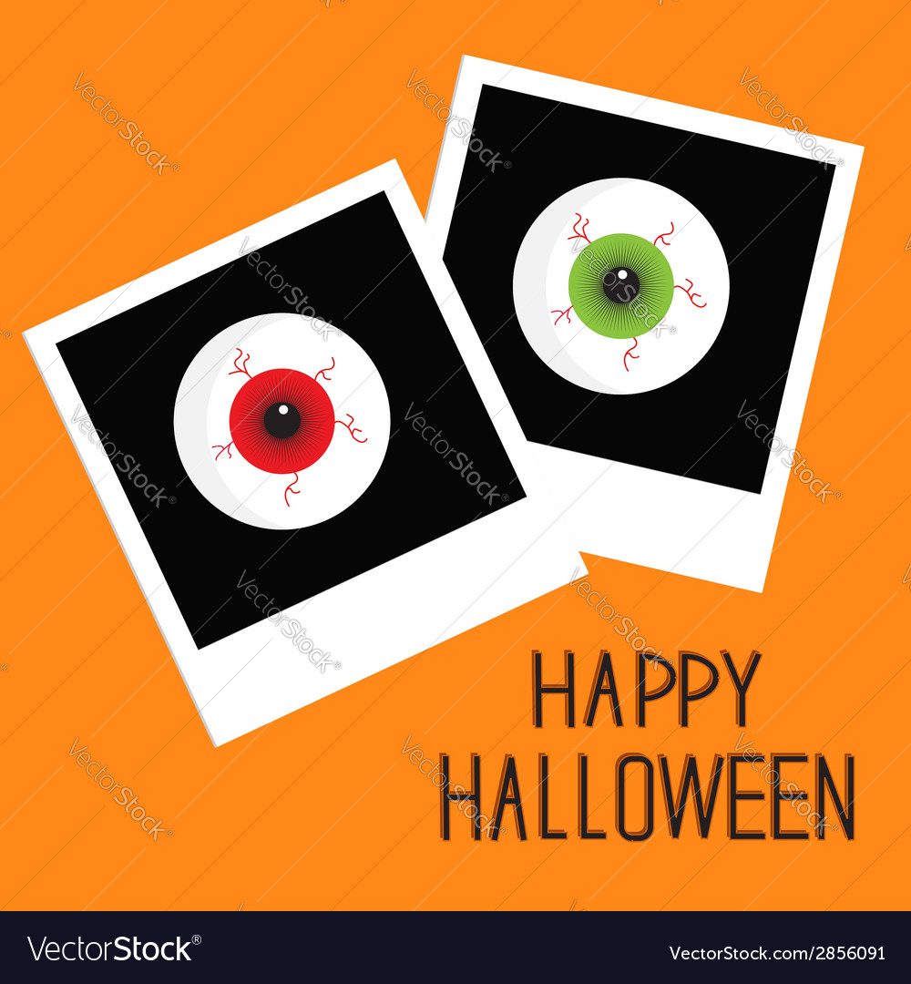 Instant photo with eyeball bloody streaks vector | Price: 1 Credit (USD $1)