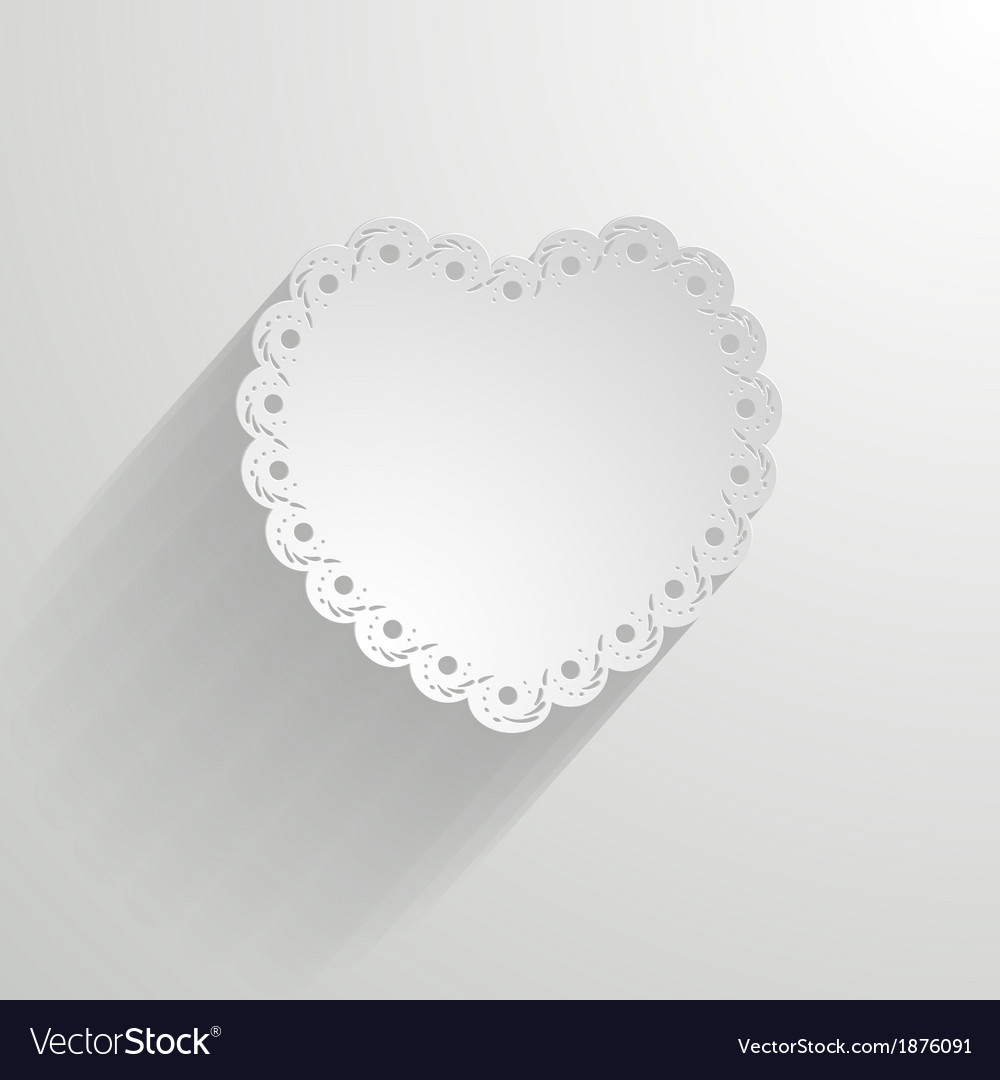 Paper heart with a lacy border vector | Price: 1 Credit (USD $1)
