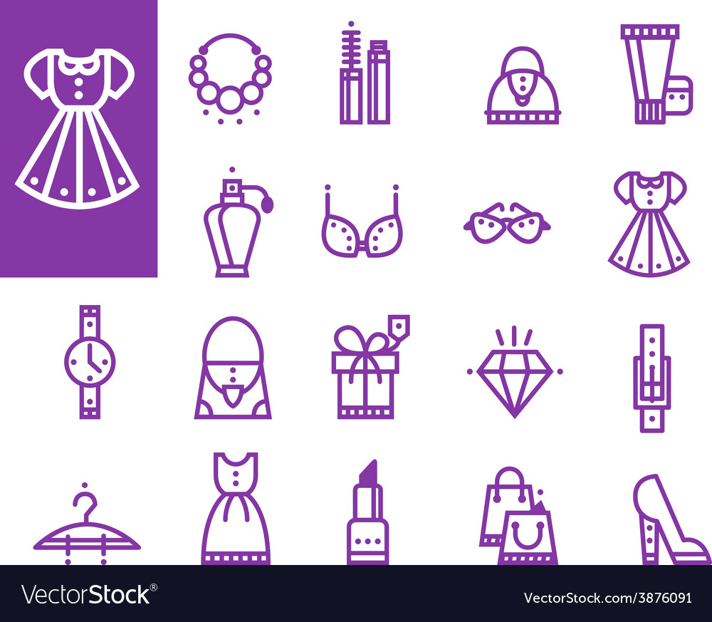 Shopping love heart with set of fashion vector | Price: 1 Credit (USD $1)