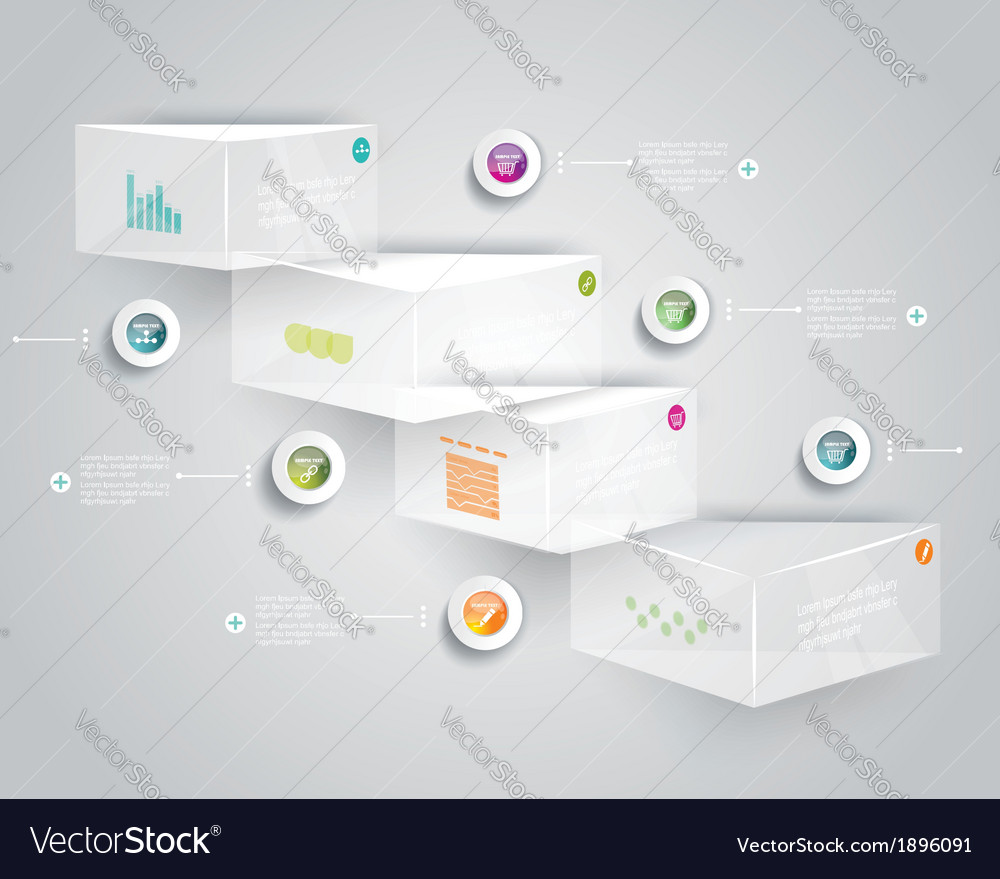 Step by step infographics glass levels of your vector | Price: 1 Credit (USD $1)