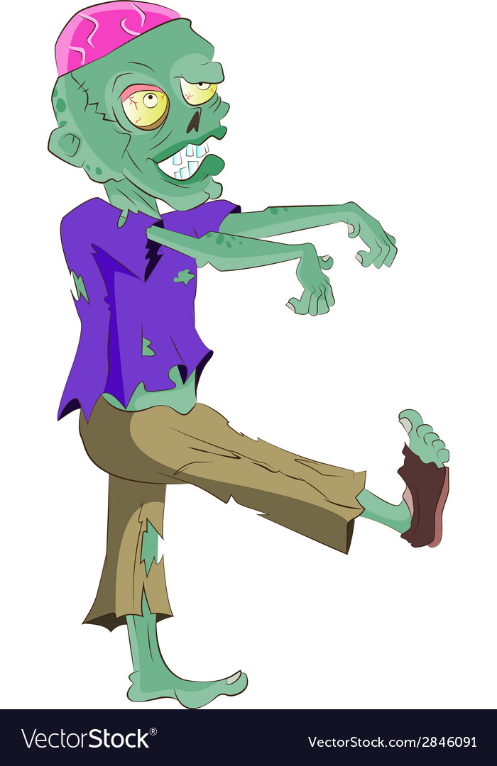 Walking zombie vector | Price: 1 Credit (USD $1)